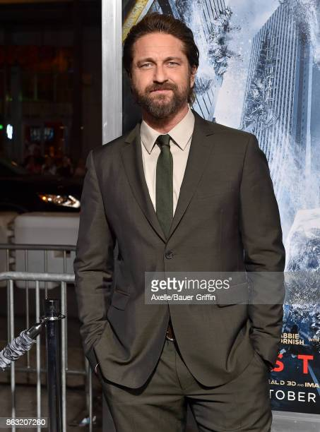 Actor Gerard Butler arrives at the premiere of 'Geostorm' at TCL Chinese Theatre on October 16 2017 in Hollywood California