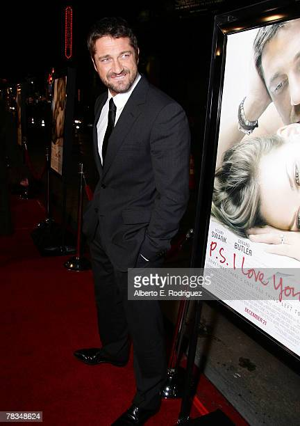 Actor Gerard Butler arrives at the premiere of Warner Bros' 'PS I Love You' held at Grauman's Chinese Theater on December 9 2007 in Los Angeles...