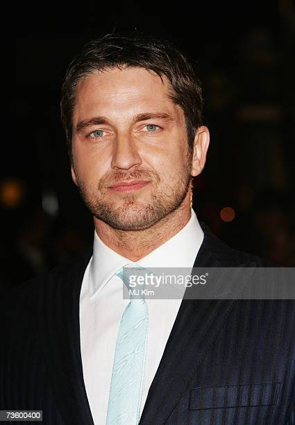 Actor Gerard Butler arrives at the UK Premiere of 300 at Vue West End Leicester Square on March 15 2007 in London England Based on the work of...