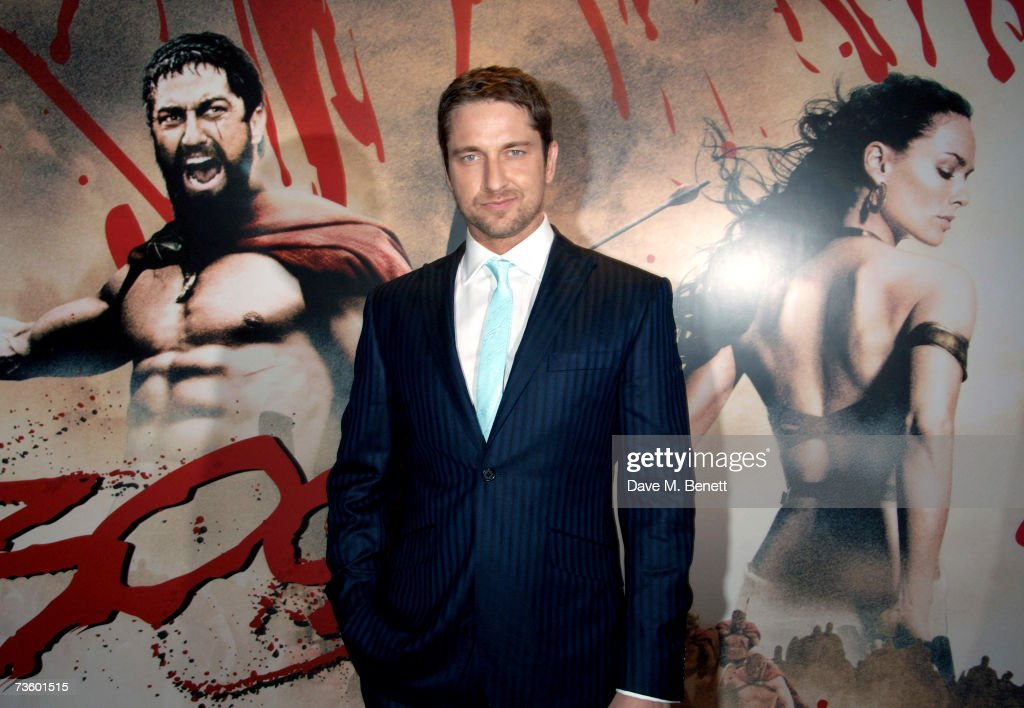 Actor Gerard Butler arrives at the UK Premiere of '300', at Vue West End on March 15, 2007 in London, England.