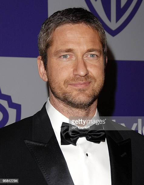 Actor Gerard Butler arrives at the Warner Brothers/InStyle Golden Globes After Party at The Beverly Hilton Hotel on January 17 2010 in Beverly Hills...
