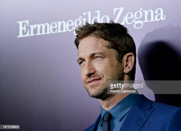 Actor Gerard Butler arrives to the Ermenegildo Zegna Global Store Opening hosted by Gildo Zegna and Stefano Pilati at Ermenegildo Zegna Boutique on...