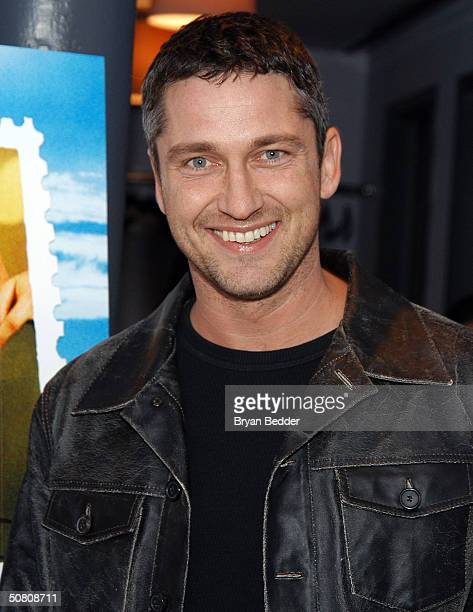 Actor Gerard Butler arrives to the screening of Dear Frankie at Tribeca Film Festival May 6 2004 in New York City