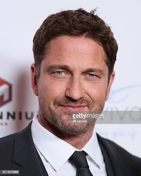 Actor Gerard Butler attends A Gala to honor Avi Lerner and Millennium Films at The Beverly Hills Hotel on April 16 2016 in Beverly Hills California