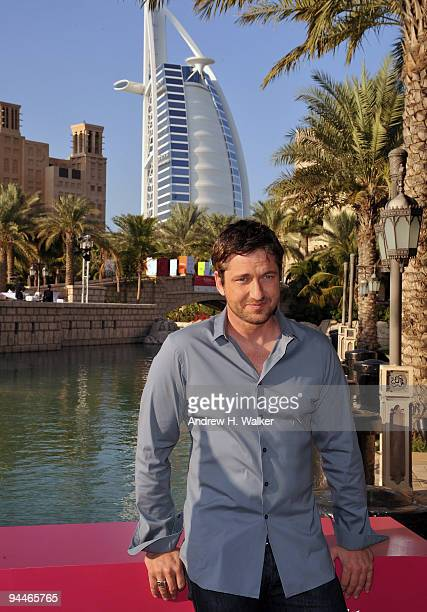 Actor Gerard Butler attends a photocall during day seven of the 6th Annual Dubai International Film Festival held at the Madinat Jumeriah Complex on...