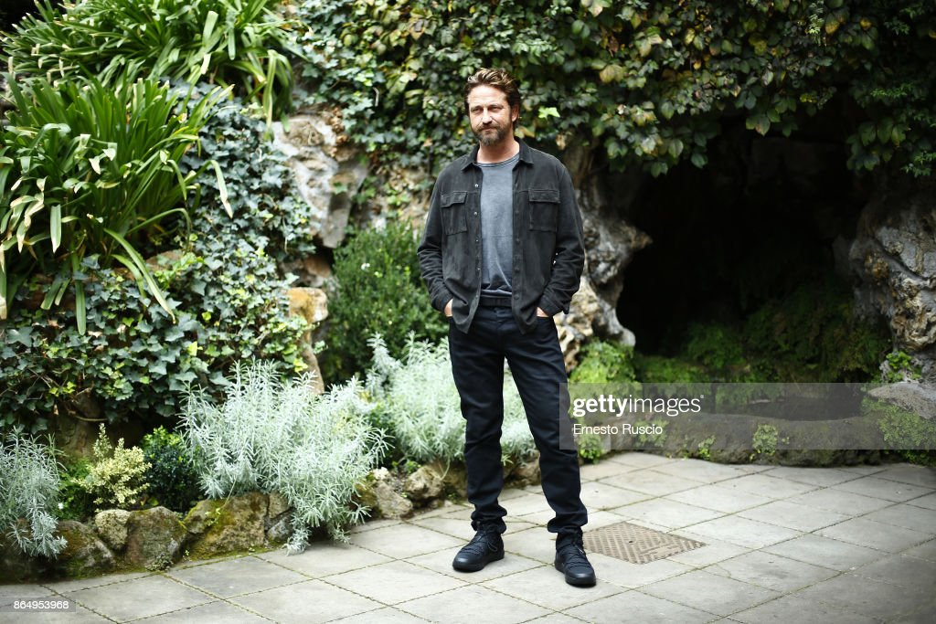 Actor Gerard Butler attends a photocall for Geostorm at Hotel De Russie on October 22, 2017 in Rome, Italy.