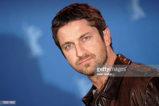 Actor Gerard Butler attends a photocall to promote the movie '300' during the 57th Berlin International Film Festival on February 14 2007 in Berlin...