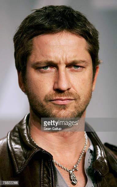 Actor Gerard Butler attends a press conference to promote the movie '300' during the 57th Berlin International Film Festival on February 14 2007 in...