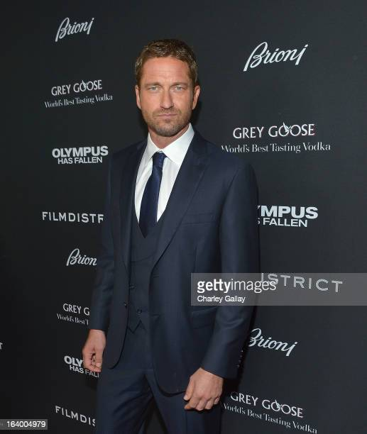 Actor Gerard Butler attends Brioni Sponsors Film District's World Premiere Of Olympus Has Fallen ArcLight Cinemas on March 18 2013 in Hollywood...