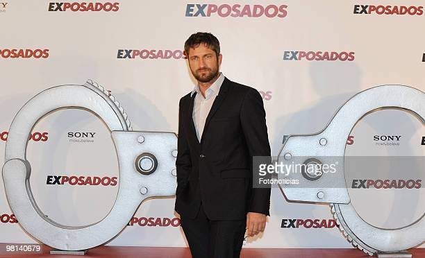 Actor Gerard Butler attends 'Exposados' photocall, at the Villamagna Hotel on March 30, 2010 in Madrid, Spain.