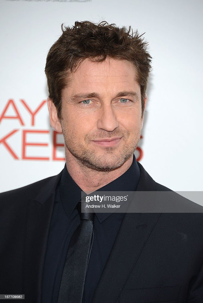 Actor Gerard Butler attends Film District And Chrysler With The Cinema Society Premiere Of 'Playing For Keeps' at AMC Lincoln Square Theater on December 5, 2012 in New York City.
