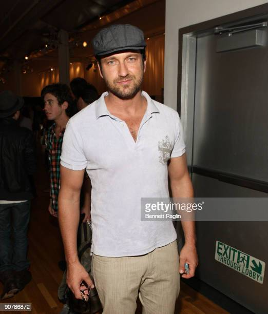 Actor Gerard Butler attends Rebecca Minkoff during Style360 Fashion Week at the Metropolitan Pavilion on September 14 2009 in New York City