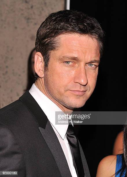Actor Gerard Butler attends the 2009 Whitney Museum Gala at The Whitney Museum of American Art on October 19 2009 in New York City