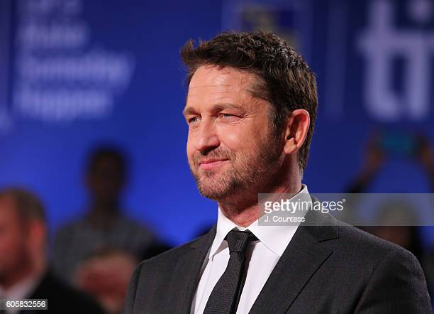 Actor Gerard Butler attends the 2016 Toronto International Film Festival Premiere of 'The Headhunter's Calling' at Roy Thomson Hall on September 14...