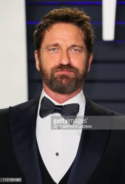 Actor Gerard Butler attends the 2019 Vanity Fair Oscar Party following the 91st Academy Awards at The Wallis Annenberg Center for the Performing Arts...
