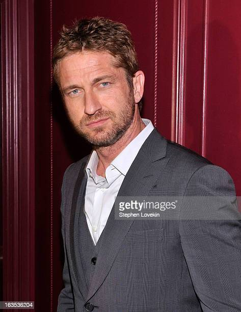 Actor Gerard Butler attends the after party for The Cinema Society with Roger Dubuis and Grey Goose screening of FilmDistrict's Olympus Has Fallen at...
