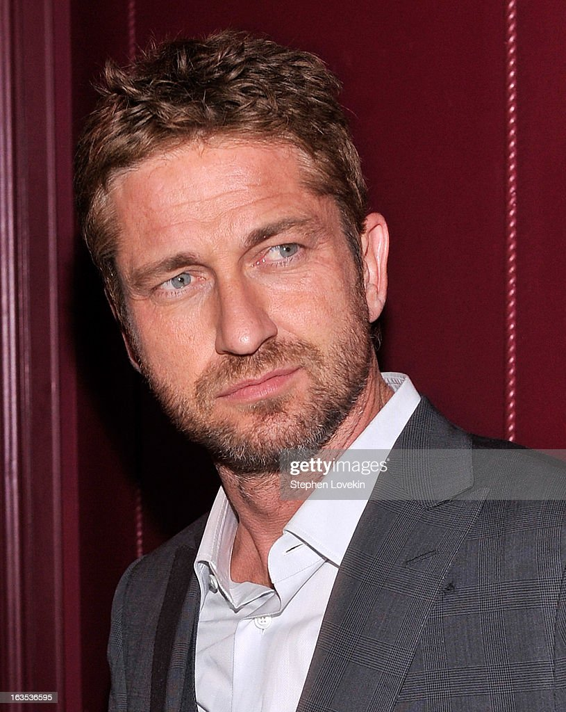Actor Gerard Butler attends the after party for The Cinema Society with Roger Dubuis and Grey Goose screening of FilmDistrict's 'Olympus Has Fallen' at The Darby on March 11, 2013 in New York City.