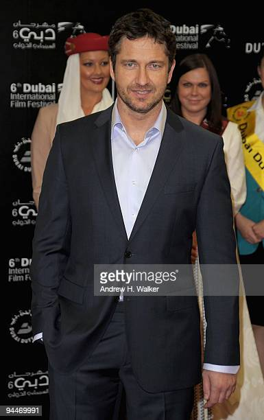 Actor Gerard Butler attends the Avatar premiere during day seven of the 6th Annual Dubai International Film Festival held at the Madinat Jumeriah...