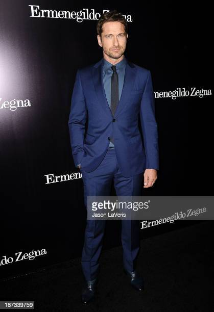 Actor Gerard Butler attends the Ermenegildo Zegna Boutique grand opening on November 7 2013 in Beverly Hills California