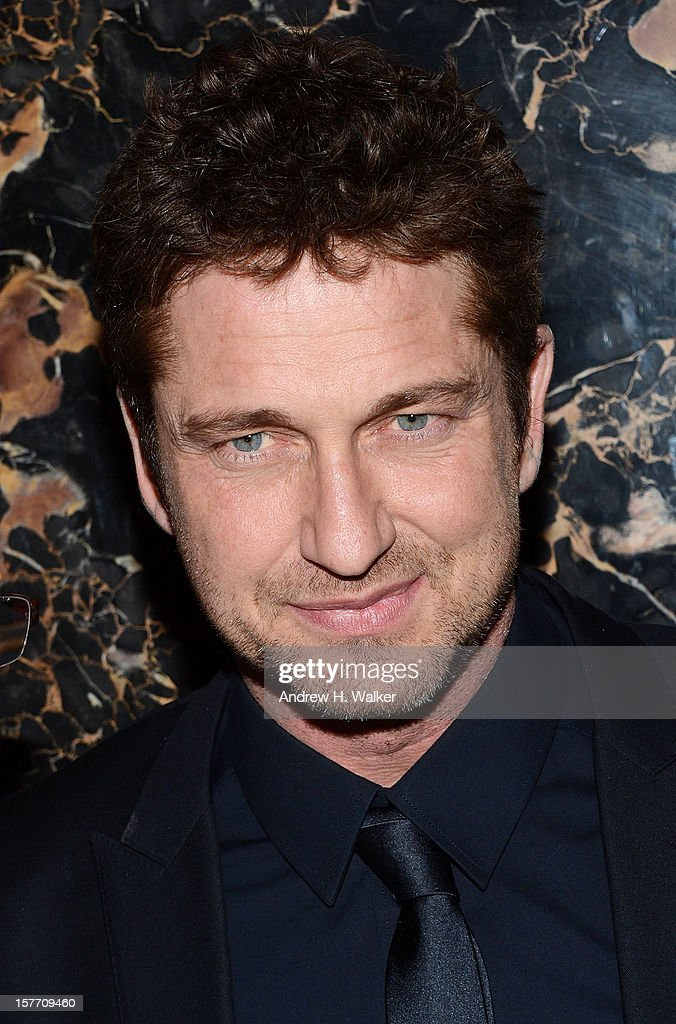 Actor Gerard Butler attends the Film District And Chrysler With The Cinema Society Premiere Of 'Playing For Keeps' at Dream Downtown on December 5, 2012 in New York City.