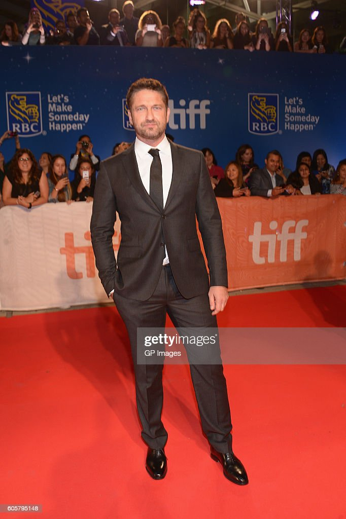 Actor Gerard Butler attends 'The Headhunter's Calling' premiere during 2016 Toronto International Film Festival at Roy Thomson Hall on September 14, 2016 in Toronto, Canada.