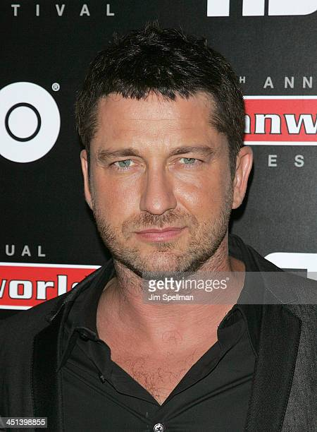 Actor Gerard Butler attends the Law Abiding Citizen premiere at the AMC Loews West 34th Street on September 23 2009 in New York City