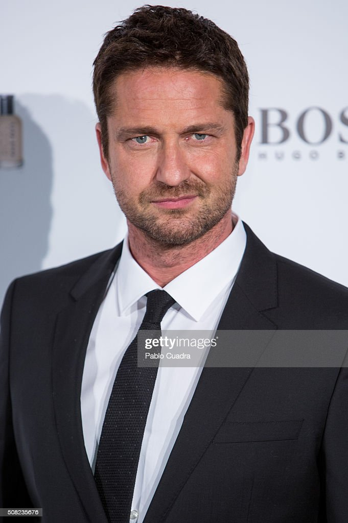 Actor Gerard Butler attends the 'Man of Today' campaign photocall at the Eurobuilding Hotel on February 3, 2016 in Madrid, Spain.