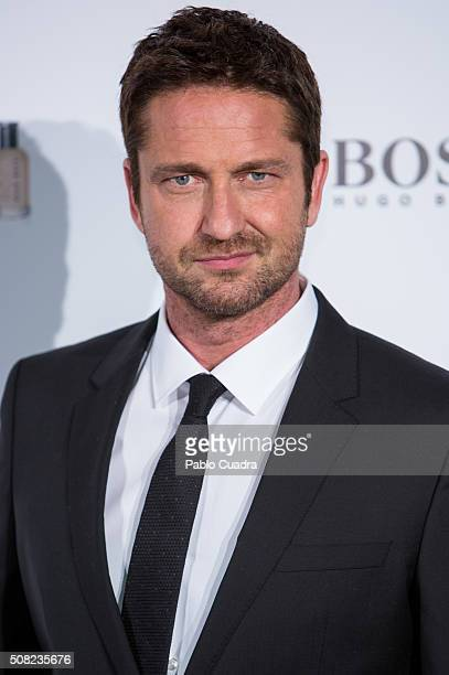 Actor Gerard Butler attends the 'Man of Today' campaign photocall at the Eurobuilding Hotel on February 3 2016 in Madrid Spain