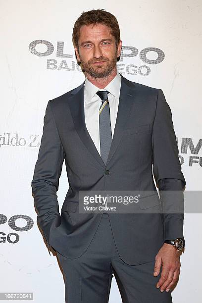 Actor Gerard Butler attends the 'Olympus Has Fallen' Mexico City Premiere red carpet on April 12 2013 in Mexico City Mexico