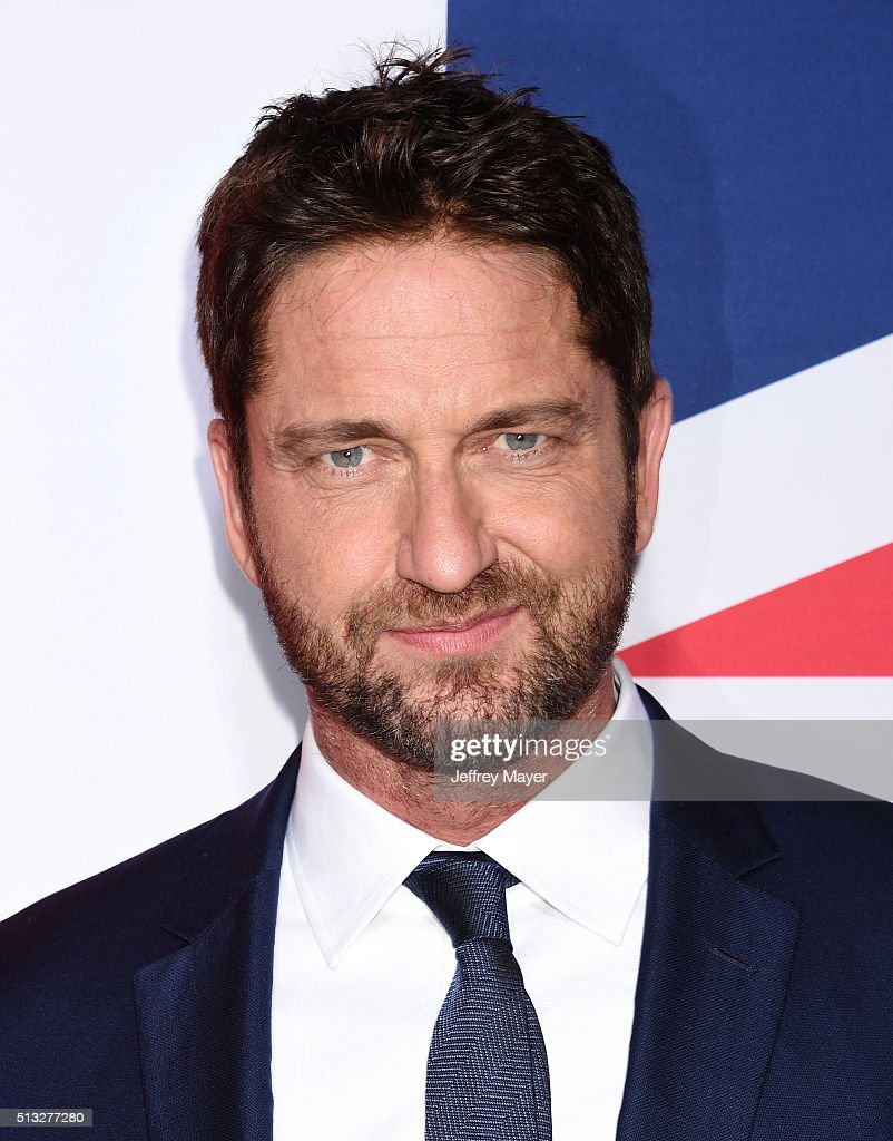 Actor Gerard Butler attends the premiere of Focus Features' 'London Has Fallen' held at ArcLight Cinemas Cinerama Dome on March 1, 2016 in Hollywood, California.