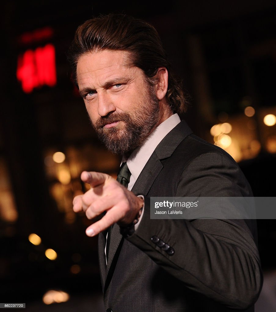 Actor Gerard Butler attends the premiere of 'Geostorm' at TCL Chinese Theatre on October 16, 2017 in Hollywood, California.