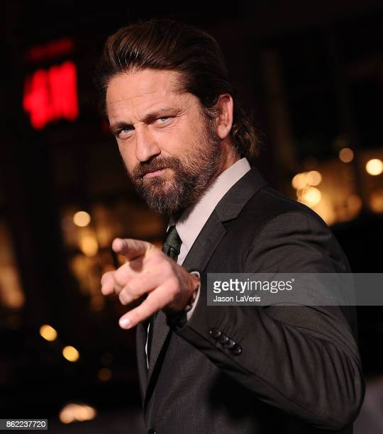 Actor Gerard Butler attends the premiere of Geostorm at TCL Chinese Theatre on October 16 2017 in Hollywood California