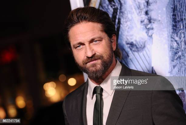 Actor Gerard Butler attends the premiere of 'Geostorm' at TCL Chinese Theatre on October 16 2017 in Hollywood California