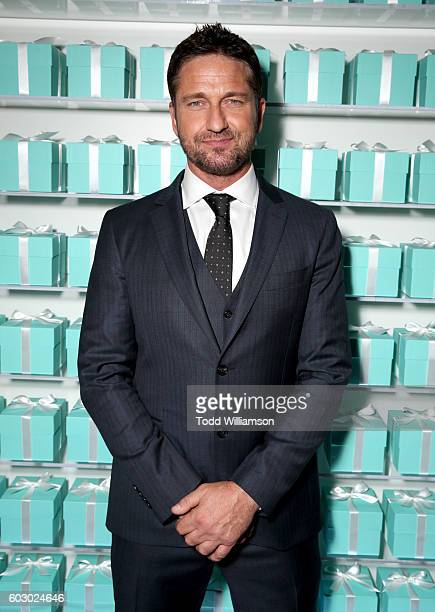 Actor Gerard Butler attends the Vanity Fair and Tiffany Co private dinner toasting Lupita Nyong'o and celebrating Legendary Style at ShangriLa Hotel...