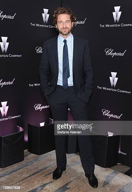 Actor Gerard Butler attends the Weinstein Company celebrates the 2012 Academy Awards presented by Chopard at Soho House on February 25 2012 in West...