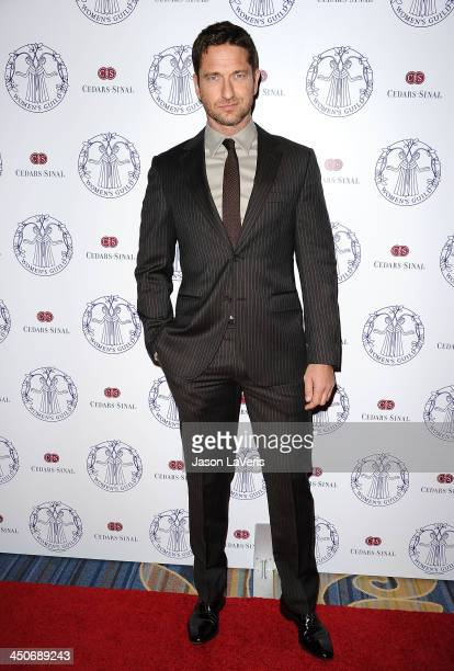 Actor Gerard Butler attends the Women's Guild CedarsSinai gala at Regent Beverly Wilshire Hotel on November 19 2013 in Beverly Hills California