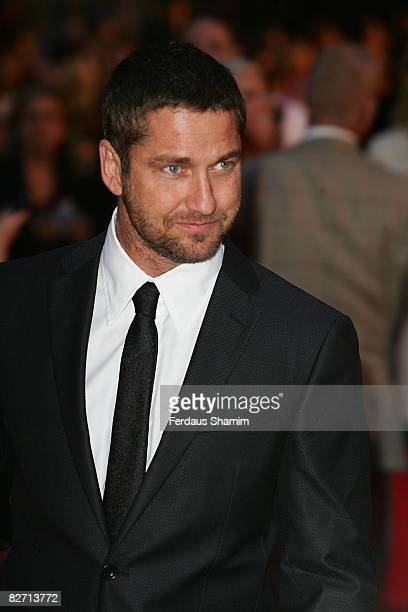 Actor Gerard Butler attends the world premiere of RocknRolla at Odeon West End on September 1 2008 in London England