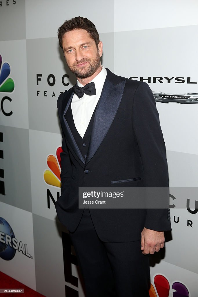Actor Gerard Butler attends Universal, NBC, Focus Features and E! Entertainment Golden Globe Awards After Party sponsored by Chrysler at The Beverly Hilton Hotel on January 10, 2016 in Beverly Hills, California.