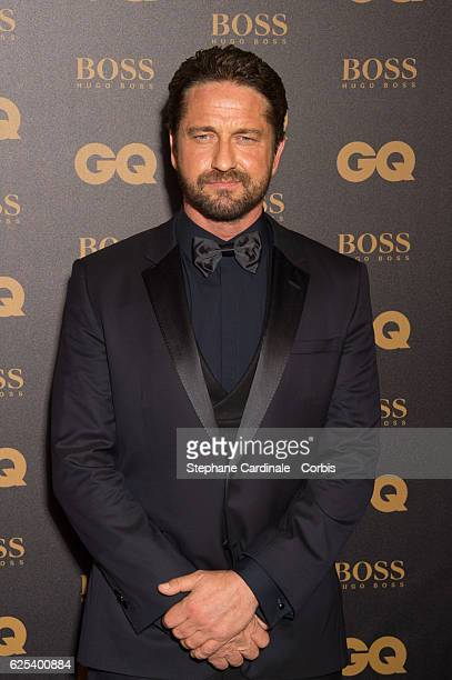 Actor Gerard Butler awarded as International Star Hugo Boss Price attends the GQ Men of the Year Awards 2016 Photocall at Musee d'Orsay on November...