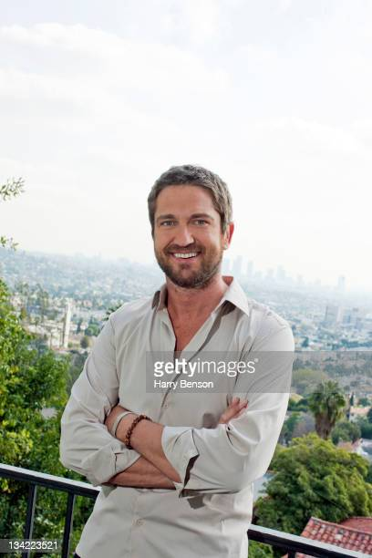 Actor Gerard Butler is photographed at home for Architectural Digest on February 11 2010 in New York City