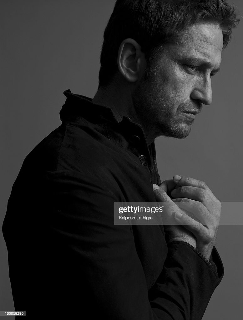 Actor Gerard Butler is photographed for the Independent on April 13, 2013 in London, England.