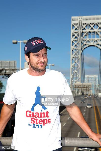 Actor Gerard Butler participates in the Giant Steps For 9/11 walk on September 13 2009 in New York City