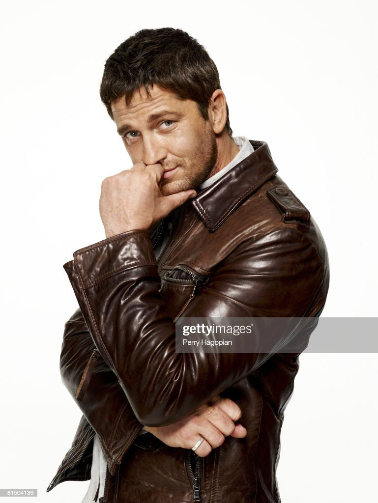 Actor Gerard Butler poses at a portrait session in New York City. Published image.