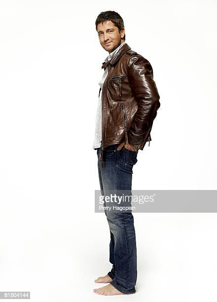 Actor Gerard Butler poses at a portrait session in New York City