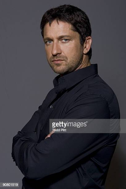 Actor Gerard Butler poses at a portrait session