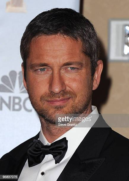 Actor Gerard Butler poses in the press room at the 67th Annual Golden Globe Awards at The Beverly Hilton Hotel on January 17, 2010 in Beverly Hills,...