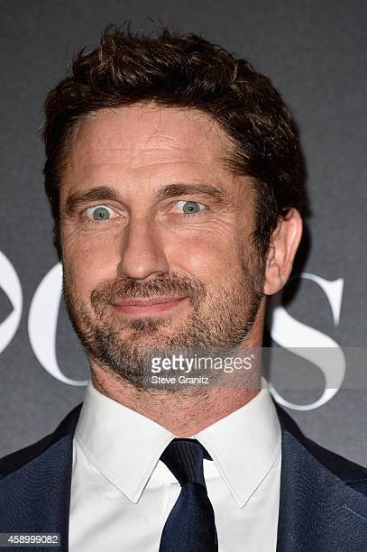 Actor Gerard Butler poses in the press room during the 18th Annual Hollywood Film Awards at The Palladium on November 14 2014 in Hollywood California