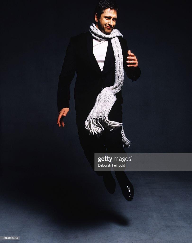 Actor Gerard Butler posing for DNR magazine on November 19, 2004 in New York City, New York.
