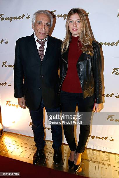 Actor Gerard Darmon and his daughter Sarah attend the Fouquet's Paris Restaurant presents its Menu 'Twisted' by the Chef Pierre Gagnaire Held at Le...