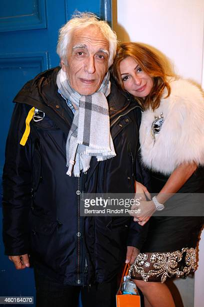 Actor Gerard Darmon and Sarah Guetta attend the Sarah Guetta Party in Paris for the first anniversary of the Hairdressing salon Sarah Guetta on...